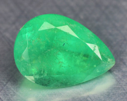 0.85 Cts NATURAL EARTH MINED GREEN COLOR COLOMBIAN EMERALD LOOSE GEMSTONE