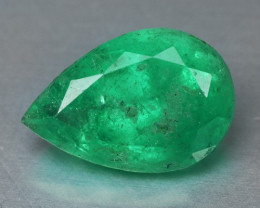 0.88 Cts NATURAL EARTH MINED GREEN COLOR COLOMBIAN EMERALD LOOSE GEMSTONE