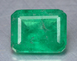 0.73 Cts NATURAL EARTH MINED GREEN COLOR COLOMBIAN EMERALD LOOSE GEMSTONE