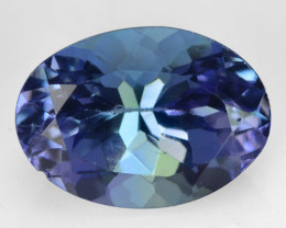 1.08 CTS FANCY VIOLET BLUE COLOR NATURAL TANZANITE (ZOISITE) LOOSE GEMSTONE
