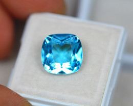7.39Ct Swiss Blue Topaz Cushion Cut Lot LZ1826