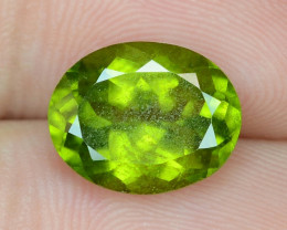 4.56 Cts NATURAL FANCY GREEN COLOR PERIDOT LOOSE GEMSTONE