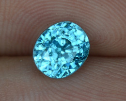 1.88 CTS UNTREATED BLUE ZIRCON NATURAL LOOSE GEMSTONE