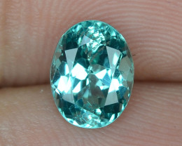 1.24 CTS UNHEATED BLUR GREEN COLOR NATURAL APATITE GEMSTONE