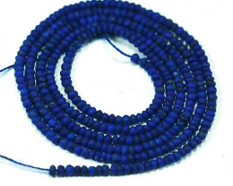 ~ROYAL BLUE~ 7.13 Cts Natural Lapis Lazuli Beads - 49 cm - 1.7 x 1.6 mm