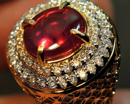42.03crt BEAUTY REDISH PINK RUBY AFRIKA CUSTOM RING