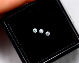 1.80mm Natural F Colour VS Loose Diamond 3pcs Lot