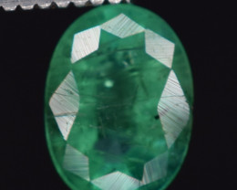 0.70 carats Natural color green  Emerald gemstone