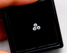 2.20mm Natural F Colour VS Loose Diamond 3pcs Lot