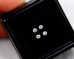 1.90mm Natural F Colour VS Loose Diamond 4pcs Lot