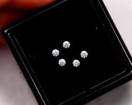 1.20mm Natural G Colour VS Loose Diamond 5pcs Lot