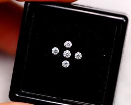 1.90mm Natural G Colour VS Loose Diamond 5pcs Lot