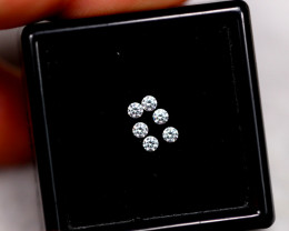 1.90mm Natural H Colour VS Loose Diamond 6pcs Lot