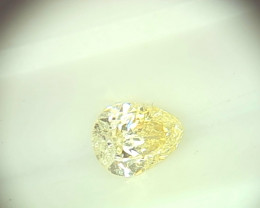 0.33ct  Light Yellow Diamond , 100% Natural Untreated