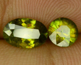 Amazing Color 1.70 ct 2 Pcs Sphene from Himalayan Range