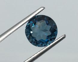 2.52 Carat VS Topaz London Blue Exquisite Brazilian Beauty !