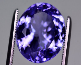 AAA Color 6.95 Ct Tremendous Quality Natural Tanzanite. ARA