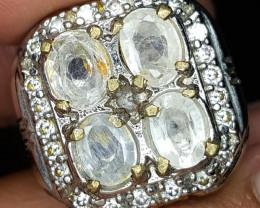 63.10 CT Oval Cut White Sapphire Gemstone Jewelry