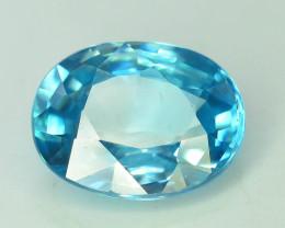 AAA Brilliance 3.95 ct Blue Zircon Cambodia