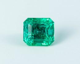 Green Emerald  1.42 ct Etiophia GPC Lab
