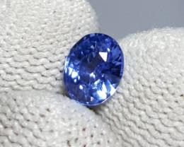 UNHEATED CERTIFIED 1.02 CTS NATURAL BEAUTIFUL CORNFLOWER BLUE SAPPHIRE CEYL