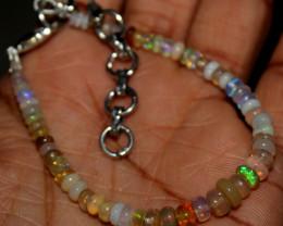 20 Crt Natural Ethiopian Welo Fire Opal Beads Bracelet 2
