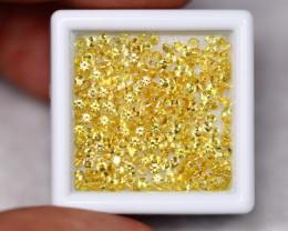 6.92cts Natural TOP Diamond Cut Yellow Sapphire 1.6mm Lot