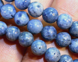 90- CTS NATURAL BLUE CORAL NECKLACE NP-2584