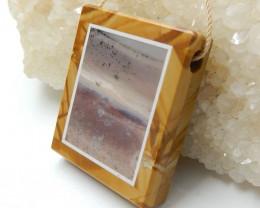 101.5cts Us Biggs Sasper And Purple stone Drilled Intarsia Pendant Bead H36