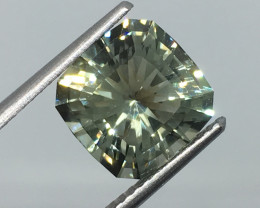 3.45 Carat VVS Prasiolite - Green Amethsyt - Master Cut Flawless Flash !