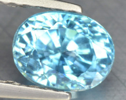 1.73 CTS UNTREATED BLUE ZIRCON NATURAL LOOSE GEMSTONE