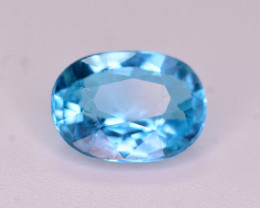 Superb Quality 1.00 Ct Neon Blue Color Natural Apatite