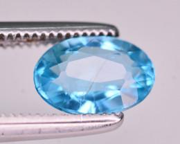 Brilliant Color 1.00 Ct Neon Blue Color Natural Apatite