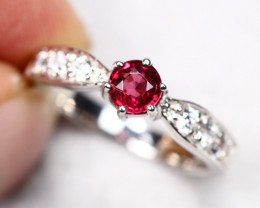 3.87g Natural Purple Rhodolite Garnet 925 Sterling Silver Ring AS1822