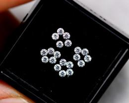 1.20mm Natural F Colour VS Loose Diamond 20pcs Lot