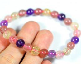 76.5Ct Natural Mix Colour Crystal Bracelet
