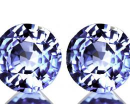 4.70mm BLUE SAPPHIRE PAIR - FABULOUS JEWELLERY GRADE GEMS
