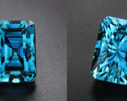 **Rattanakiri Blue, Cambodian Zircon.  13 carats. IF clarity**.