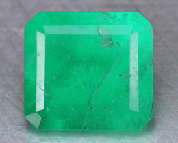 1.26 CTS NATURAL EARTH MINED GREEN COLOR COLOMBIAN EMERALD LOOSE GEMSTONE