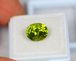 4.67Ct Green Peridot Oval Cut Lot B15/9