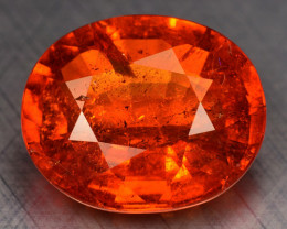 4.20 Cts NATURAL SPESSARTITE GARNET FANTA ORANGE RED LOOSE GEMSTONE
