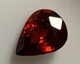 Red Spessartite Garnet Pear 1.41ct No reserve