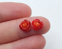 4cts  Stone coral  ,flower cabochon ,Designer Making B460