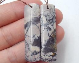 46cts Stone Chohua jasper earrings ,Raw earrings ,Designer Making B456