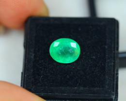 2.63ct Zambia Green Emerald Oval Cut Lot E39