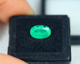 1.77ct Zambia Green Emerald Oval Cut Lot E40