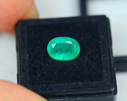 2.52ct Zambia Green Emerald Oval Cut Lot E44