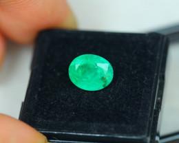 2.30ct Zambia Green Emerald Oval Cut Lot E50