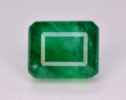 Vivid Green Color  1.20 Ct Natural Emerald. RA