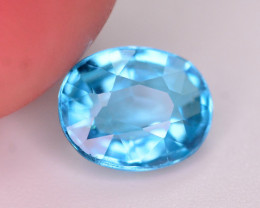 AAA Quality 1.05 Ct Neon Blue Color Natural Apatite. ARA